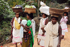 Dongria Kondh tribe's Women at weekly market Royalty Free Stock Photography