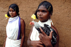 Dongria Kondh tribe's Women in Orissa-India Stock Images