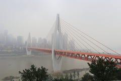 Dongshuimen kabel-blev bron royaltyfri foto