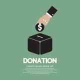 Doni i soldi al concetto della carità Immagine Stock
