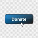 Doni il bottone lucido con la freccia - illustrazione di vettore - isolata su fondo trasparente royalty illustrazione gratis