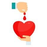 Doni il concetto del sangue Immagine Stock Libera da Diritti