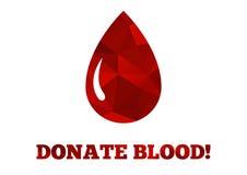 Doni il fondo del sangue Fotografia Stock Libera da Diritti