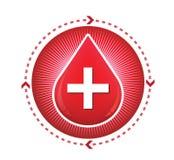 Doni il segno rosso sangue di goccia Immagine Stock Libera da Diritti