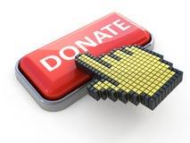 Doni il tasto di Web Immagini Stock Libere da Diritti