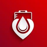 Doni la progettazione di massima del sangue su fondo rosso royalty illustrazione gratis