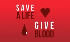 Doni la progettazione rossa del fondo del giorno del sangue Fotografia Stock Libera da Diritti