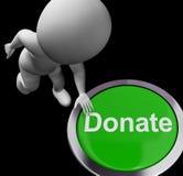 Doni le donazioni e la raccolta di fondi della carità di manifestazioni del bottone Immagini Stock Libere da Diritti