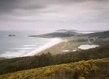 Doninos beach in Ferrol, Galicia, Spain. Stock Photos