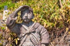 Doniosły miejsce Byakkutai w Aizuwakamatsu, Japonia fotografia stock