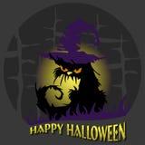 doniosłego Halloween pocztówkowego nieba pocztówkowa ulica Obraz Royalty Free