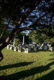 Doniosli markiery przy Starym cmentarzem Zdjęcia Royalty Free