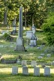 Doniosli markiery przy Starym cmentarzem Fotografia Royalty Free