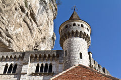 Donjon. Of the Ancien Palais Abbatial of Rocamadour in France. This village is a famous religious place in the south of France royalty free stock images