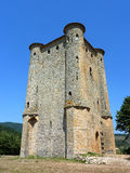 Donjon 4. Keep of the Castle of Arques stock images