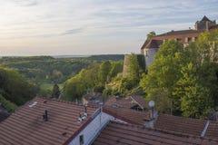 Donjon av Chaumont, Frankrike Arkivbild