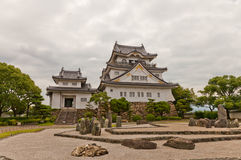 Donjon av den Kishiwada slotten, Japan Arkivfoton
