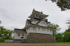 Donjon av den Yokote slotten, Akita Prefecture, Japan Arkivfoton