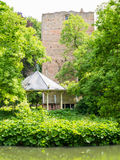 Donjon, bandstand and moat of Duurstede castle in Wijk bij Duurs Royalty Free Stock Image