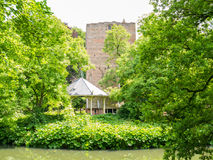 Donjon, bandstand and moat of Duurstede castle in Wijk bij Duurs Stock Image