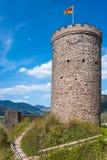 Donjon del castello rovinato Husen in Hausach Immagine Stock