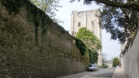 Donjon in France. Donjon at the loire Valley France royalty free stock photography