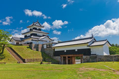 Donjon and Gate of Shirakawa Castle, Fukushima Prefecture, Japan Royalty Free Stock Photography