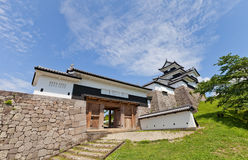 Donjon and Gate of Shirakawa Castle, Fukushima Prefecture, Japan Royalty Free Stock Photo