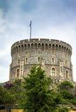 Donjon - a grande torre ou o mais íntimo mantêm-se de Windsor Castle medieval Imagem de Stock