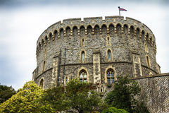 Donjon - the great tower or innermost keep of a Medieval Windsor Castle Royalty Free Stock Photography