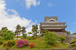 Donjon of Kaminoyama Castle, Yamagata Prefecture, Japan. Main Keep & x28;donjon& x29; of Kaminoyama Castle, Japan. Castle was founded in 1535 by Takenaga stock image