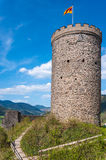 Donjon of the ruined castle Husen in Hausach Stock Image