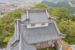 Donjon secondario del castello di Echizen Ohno a Ohno, Giappone Fotografia Stock Libera da Diritti