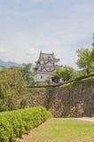 Donjon & x28; 16th c & x29; av den Uwajima slotten Uwajima stad, Japan Fotografering för Bildbyråer
