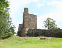 Donjon tower on Velhartice Castle Stock Image