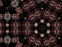 Donker abstract fractal patroon Stock Foto's