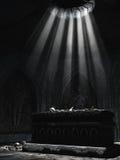 Donker altaar met beenderen royalty-vrije illustratie