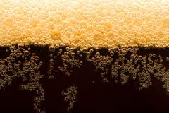 Donker bier met schuim Royalty-vrije Stock Foto's