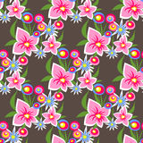Donker bloemen naadloos patroon Royalty-vrije Stock Afbeelding