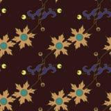 Donker bloemen naadloos patroon Stock Afbeelding