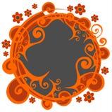 Donker bloemenframe stock illustratie