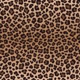 Donker bruin onregelmatig luipaard naadloos patroon, vector Stock Foto's