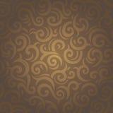 Donker bruin uitstekend retro sierbehangontwerp Stock Afbeeldingen
