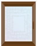 Donker bruin venster Royalty-vrije Stock Afbeeldingen
