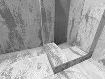 Donker concreet ruimtebinnenland Abstracte architectuur industriële bedelaars Stock Fotografie