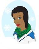Donker gevild de wintermeisje Royalty-vrije Stock Afbeelding