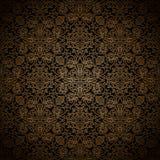 Donker gouden patroon Stock Fotografie