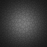 Donker Grey Chaotic Dots Pattern Background Vector Illustratie