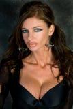 Donker Haired Model Goth Royalty-vrije Stock Foto's