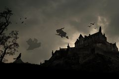 Donker Halloween Place royalty-vrije illustratie